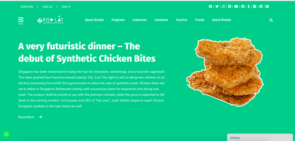 A very Futuristic Dinner - The Doubt of Synthetic Chicken Bites